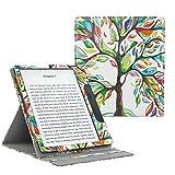 MoKo Hülle für Das neue All-New Kindle Oasis (9th Gen.- 2017 Modell) - Vertikal Flip Kunstleder Ständer Schutzhülle Smart Cover mit Auto Sleep/Wake für 7