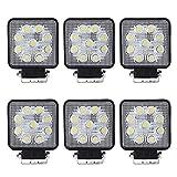 VINGO®6X 27W LED Luces de trabajo Faros Todo terreno Jeep SUV Luces adicionales Luz de trabajo 10-30 V DC