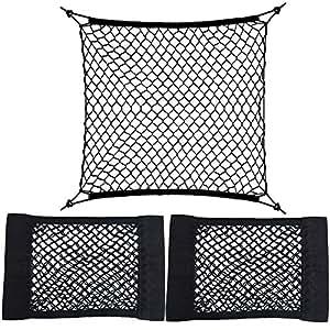 organisateur coffre voiture en maille 4 crochets 2pcs filet coffre sac de. Black Bedroom Furniture Sets. Home Design Ideas