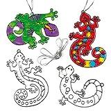 """Suncatcher-Anhänger """"Gecko"""" - aus Acrylglas zum Aufhängen und Dekorieren für Kinder zum Basteln (6 Stück)"""