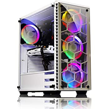 ADMI Gaming PC  AMD FX-6300 Six Core 4.1GHz, Nvidia GTX 1050 2GB, 1TB HDD,  8GB 1600MHz, WiFi, White RGB Tempered Glass Gaming Case, No OS 33e39f7a12a2