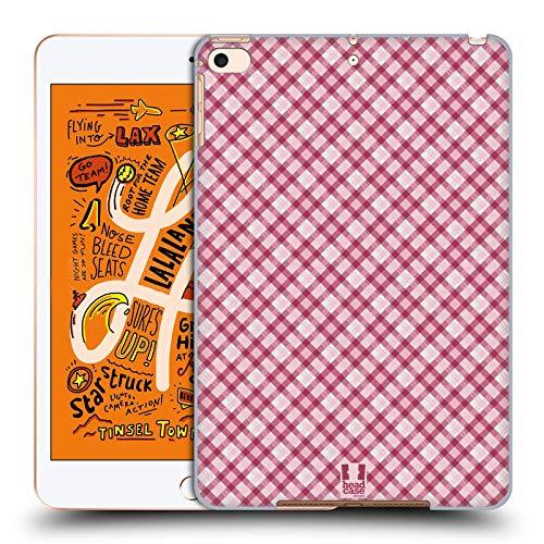 Head Case Designs Hot Pink Plaid - Muster Kollektion Harte Rueckseiten Huelle kompatibel mit iPad Mini (2019) Hot Pink Plaid Design
