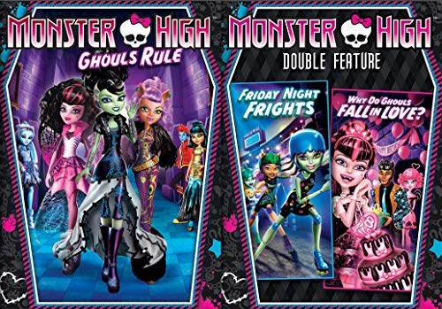 High School Monster Super Pack: Monster High Triple Feature- Ghouls Rule + Friday Night Frights + Why Do Ghouls Fall In Love? DVD Bundle -