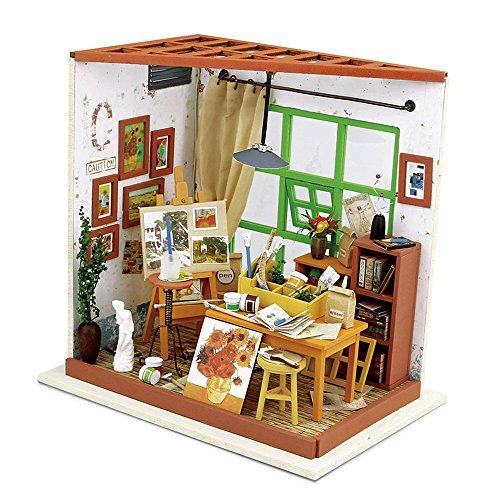 Rolife kit da casa di bambole in legno di legno in miniatura kit da casa con led-creativo compleanno regali di natale per bambini e adulti-ada's studio