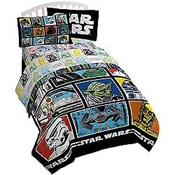 Disney Juego de sábanas Star Wars, clásico, Cama Individual