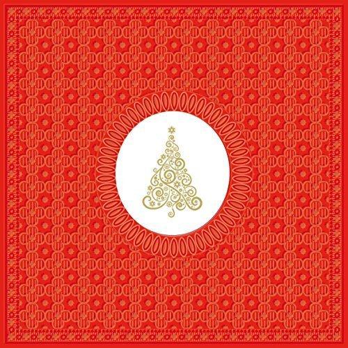 Tourbillon Sapin de Noël rouge doré paquet de 20 Serviettes en Papier Serviettes 13 \\