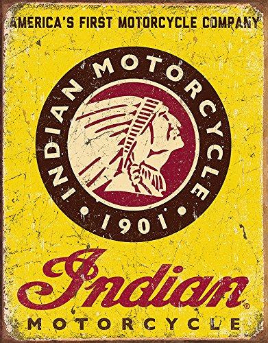 Desperate Enterprises Indian Amerikanisches Erstes Motorrad Firma Metallschild (de)