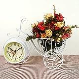 Damjic Location Vélo Regarder L Horloge Cute Pastorale Mute Art Complexe Fer Blanc Horloge...