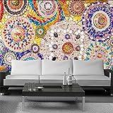Zxdcd Personnalisé 3D Grande Murale Carreau De Mosaïque Brique Motif Fonds D'Écran Américain Rétro Pour Salon Fond Murs Décor À La Maison Mural-280X200CM