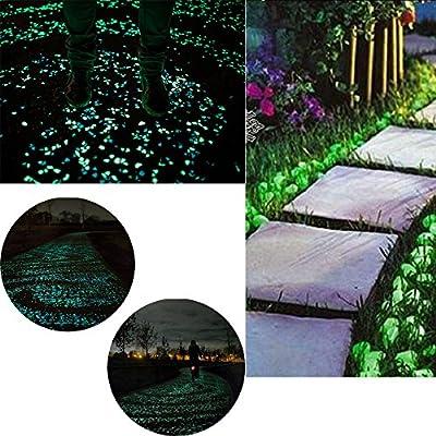 COLORFUL Leuchtsteine 50 St./ künstliche Kieselstein/ leuchtende Kiesel /Aquarium Floureszierende Pebbles Stein /Garten Gehweg von Colorful bei Du und dein Garten