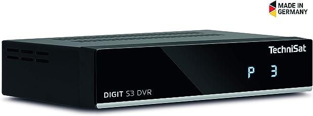 TechniSat DIGIT S3 DVR HD Sat-Receiver mit Single-Tuner für Empfang in HD mit PVR-Aufnahmefunktion, Timeshift, schwarz