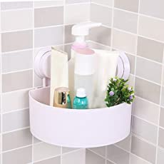 Allium Plastic Interdesign Bathroom Kitchen Storage Organize Shelf Rack Triangle Shower Corner Caddy Basket.