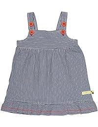 loud + proud Baby Girls' Kleid, Ringel Dress, Blau (Ultramarin Ul), 3-6 Months