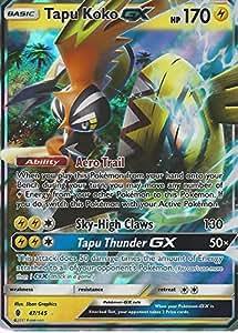 Pokemon sun moon guardians rising tapu koko gx 47 145 - Carte pokemon ex et gx ...