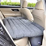 Shag Car Travel Air Bed PVC Inflatable Mattress Pillow Camping Universal SUV Back Seat Couch with Repair Bag Compression...