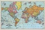 Stanfords Allgemeine Karte Der Welt 'Farbe' Maxi Poster,61 x 91.5 cm