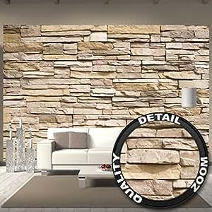 Poster fotografico parete di pietra decorazione pietra in for Carta da parati effetto pietra 3d