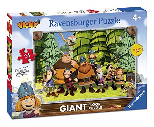 Ravensburger Wickie el Vikingo - Rompecabezas de Suelo Gigante de 24 Piezas 54626