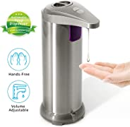 Goodstuffshop Soap Dispenser, Touchless Automatic Soap Dispenser, Infrared Motion Sensor Stainless Steel Dish Liquid Hands-free Auto Hand Soap Dispenser, Upgraded Waterproof Base