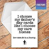 personalisierbar Care Home 'Witz Vatertag Karte Funny/Spoof Geburtstag Grußkarte–Texten für jede Gelegenheit oder Event–Geburtstag/Weihnachten/Hochzeit/Jahrestag/Verlobung/Vatertag/Muttertag