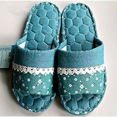 ZHLONG Moda donna pantofole casual caldi di Home Interior slittamento