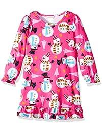 Komar Kids Niñas Snowman Nightgown Bata para dormir