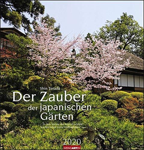 Der Zauber der japanischen Gärten. Wandkalender 2020. Monatskalendarium. Spiralbindung. Format 46 x 48 cm