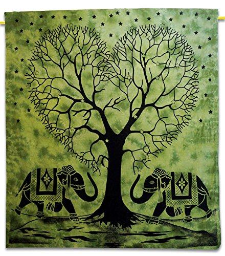 Tree Indian Arazzo Arazzo cotone regina verde