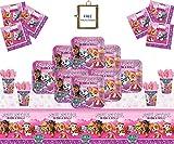 Paw Patrol Pink Party Supplies Kinder Geburtstag Mädchen Komplette Paw Patrol Party Dekorationen für 16 Gäste-Free Photo Frame