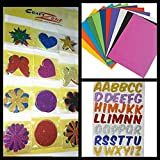 #8: Craftzone A4 Eva Foam Sheet 10 Color 2Mm Thickness For Craft + Alphabets Glitter Letters + Different Shapes Stickers For All Kind Of Projects