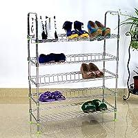 Preisvergleich für BLOIBFS Edelstahl Schuhregal Einfach Schuhkarton Mehrschichtig Verdicken Stahlrohr Kombination Regal,Metallic
