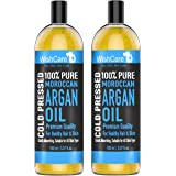 WishCare® 100% Pure Cold Pressed & Natural Moroccan Argan Oil - for Healthy Hair & Skin | Combo Pack of 2 (100 Ml each)