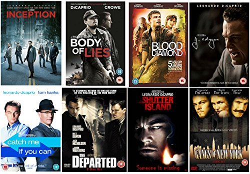 The Leonardo DiCaprio Ultimate DVD Collection : Inception / Blood Diamond / Body Of Lies / J Edgar / Catch Me If You Can / Shutter Island / The Departed / Gangs of New York by Leonardo DiCaprio