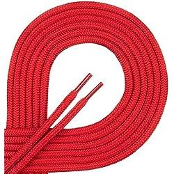 Di ficc hiano de calidad cordones, runds Nietos para guantes y trekking Guantes de trabajo de 100% poliéster, diámetro aprox. 4,5mm, 27de colores, longitudes 70–220cm, color Rojo, talla 70 cm