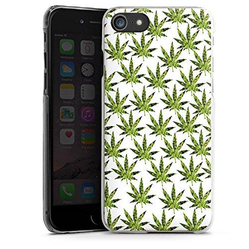 Apple iPhone X Silikon Hülle Case Schutzhülle Hanfblatt Gras Weed Muster Hard Case transparent