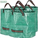 GardenMate® 3x Gartensack 60l aus robustem Polypropylen-Gewebe 150gsm