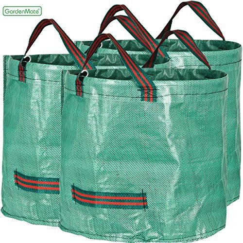 GardenMate 3x Gartensack 60l aus robustem Polypropylen-Gewebe (PP) 150gsm