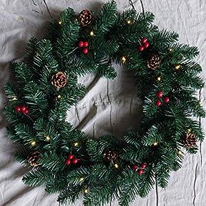 FBright Corona de Navidad con