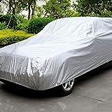 KKmoon Funda Cubierta del coche Protección Calor Solar Interior al Aire Libre a Prueba de Polvo Anti-UV Resistente a Arañazos Universal Traje L