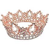 Beaupretty Diadema de Tiara Coronas de Novia Tiaras Diamantes de Imitación Tiara Nupcial Tocados de Cristal para Mujeres Acce