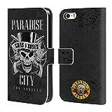 Officiel Guns N' Roses Ville De Paradis Vintage Étui Coque De Livre en Cuir pour iPhone 5 iPhone 5s iPhone Se