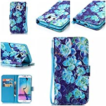 nancen Apple iPhone 5/5S/Si (4,0 pollici) Cover, Colorful alto Qualità Portafoglio Pelle PU Bookstyle Portafoglio Flip (Double Dragon Mobile)