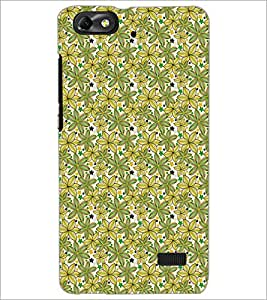 PrintDhaba Floral Pattern D-5341 Back Case Cover for HUAWEI HONOR 4C (Multi-Coloured)