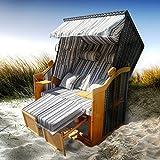 BRAST Strandkorb Premium Volllieger Ostsee Sonneninsel Poly-Rattan XXL