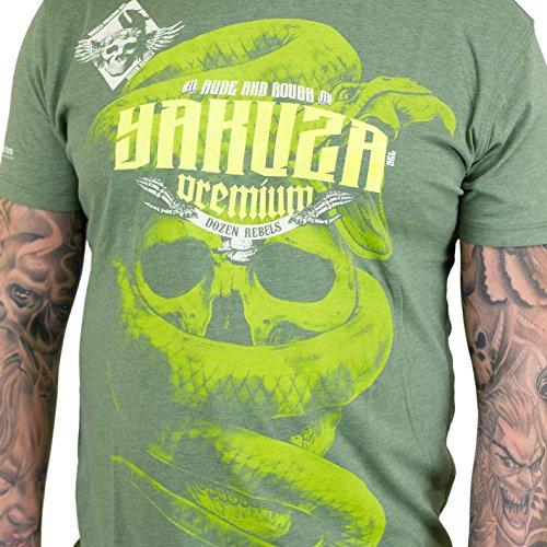 Yakuza Premium Herren T-Shirt YPS 2404 DOZEN REBELS Olive