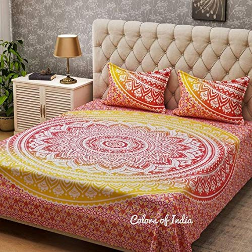 Red Duvet Cover Ombre Fabric Boho Quilt Cover Queen size bedding Free Shipping Inactive -