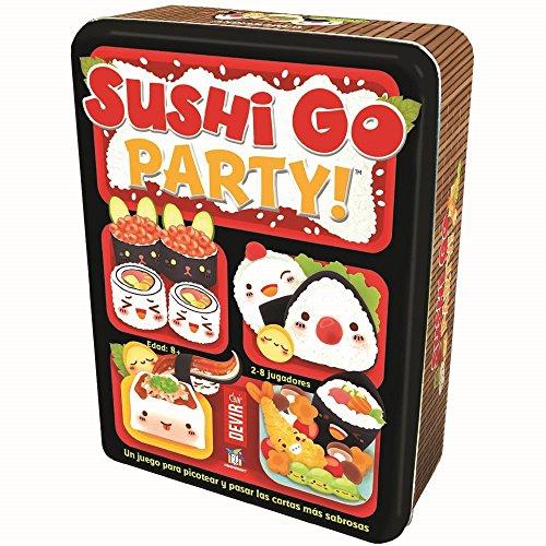Hoy toca cenar a la carta: disfrutad de un festín de lujo a base de maki, sashimi y edamame sin fin. Esta versión incluye el juego básico y muchos más platos. Antes de empezar, los jugadores deberán escoger su propio menu entre 20 platos exquisitos. ...