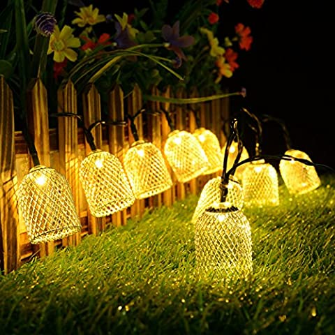 String Lights,10LED Solar Moroccan Ball String Lights,Kondisco String Lights for Outdoor,Garden,Patio,Christmas,Xmas Tree,Holiday Party Decorations Lawn,Decoration (Warm