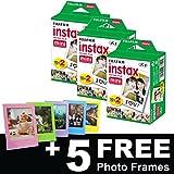 Film für Fujifilm Instax Mini für 60Aufnahmen, inklusive 5 Bilderrahmen gratis