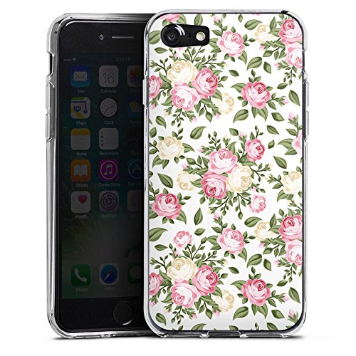 Apple iPhone X Silikon Hülle Case Schutzhülle Flower Rosen Frühling Silikon Case transparent